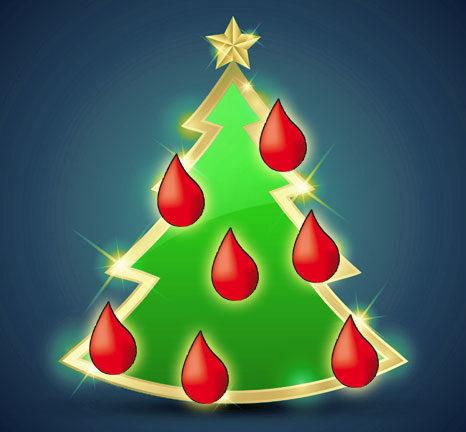 Albero di Natale del donatore di sangue